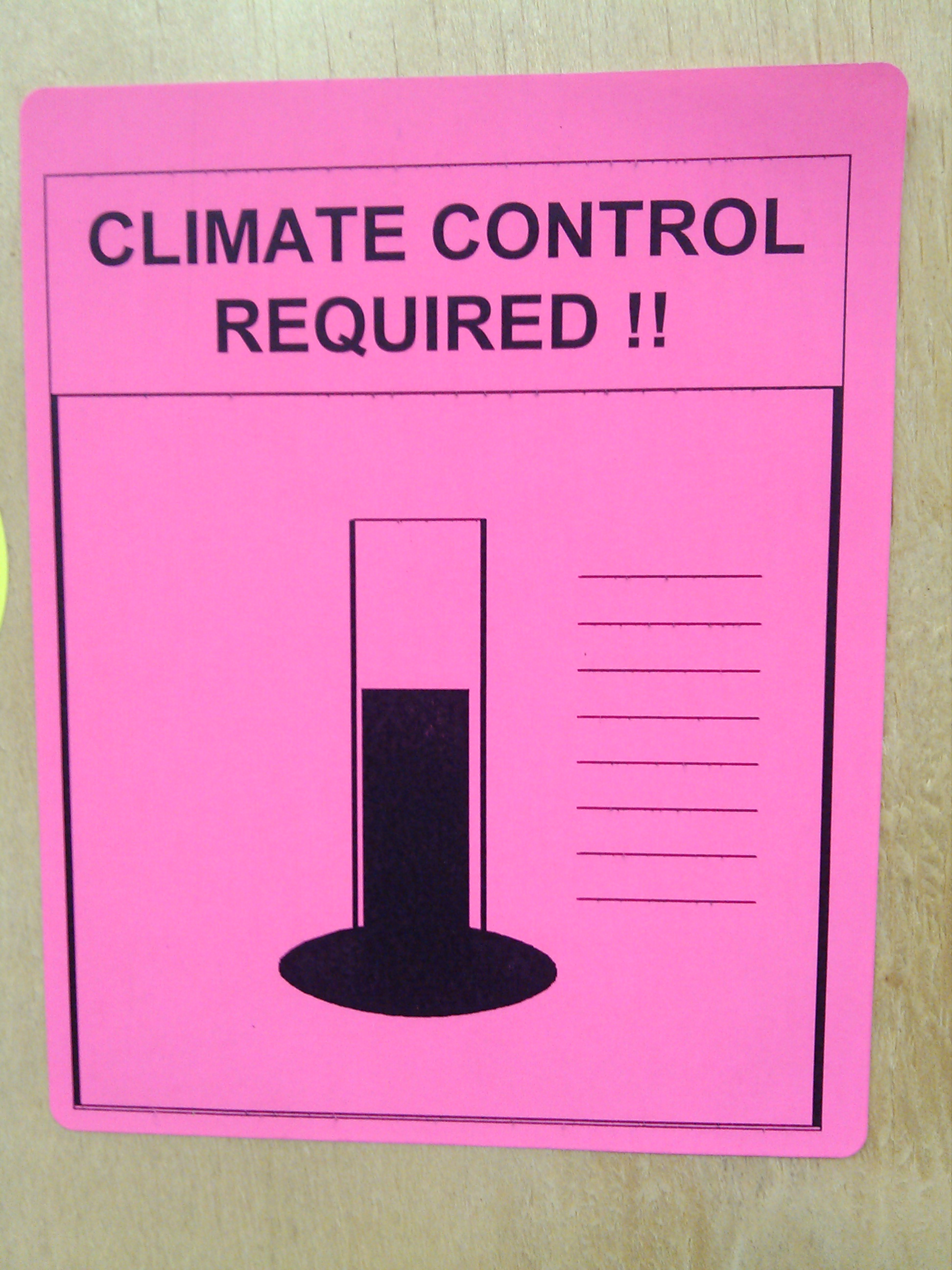 Climate monitored signage